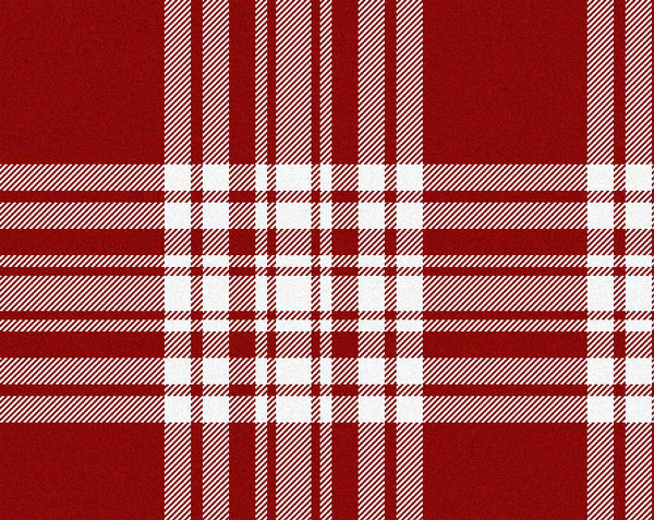 Menzies Red/White Modern Tartan 11oz Cloth | Scottish Shop
