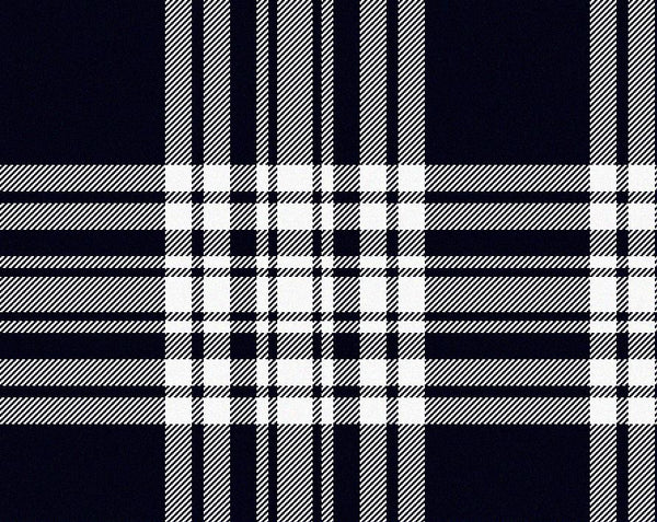 Menzies Navy/White Modern Tartan 11oz Cloth | Scottish Shop
