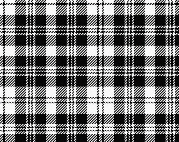 Scott Black&White Modern Tartan 11oz Cloth | Scottish Shop