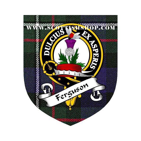 Ferguson Clan Crest Cork Coaster | Scottish Shop