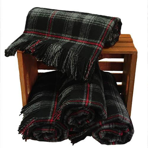 Witches' Blood Tartan Blanket | Scottish Shop
