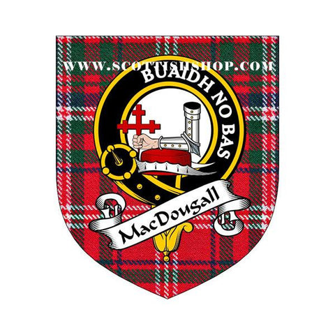 MacDougall Clan Crest Tartan Whisky Glass|Scottish Shop