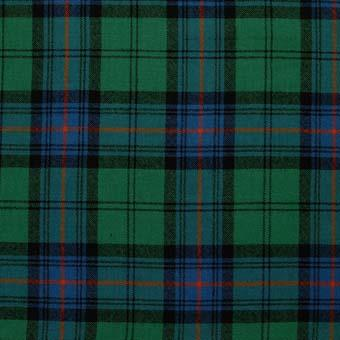 Tartan Tie Clergy Blue or Green Or Pocket Square Scottish Wool Plaid