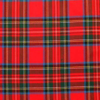 Stewart Royal Tartan Pocket Square Handkerchief | Scottish Shop