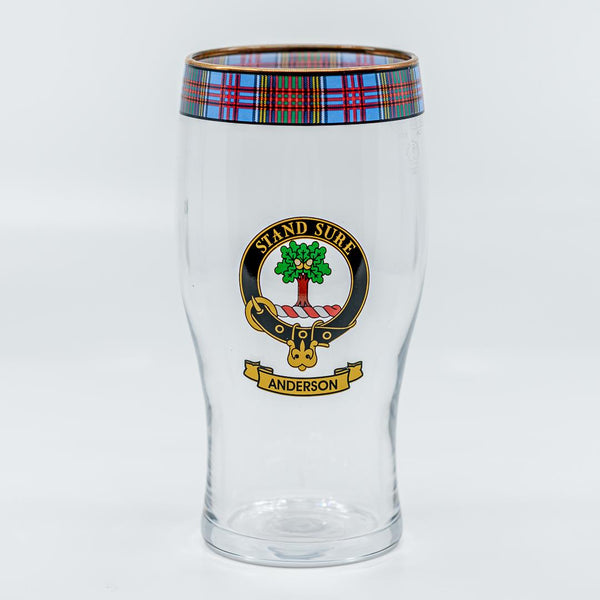 Anderson Clan Crest Pint Glass