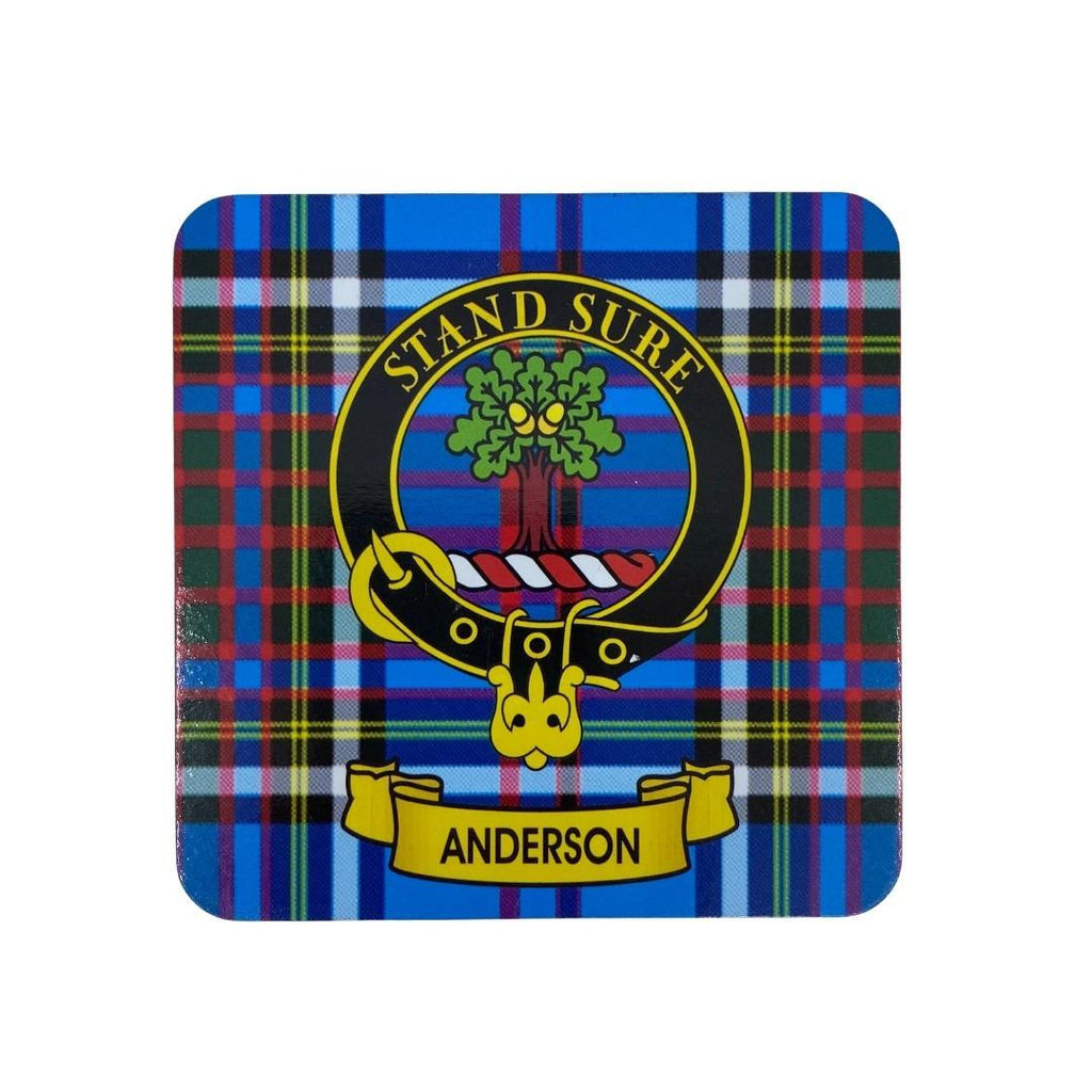 Anderson Clan Crest Cork Coaster | Scottish Shop