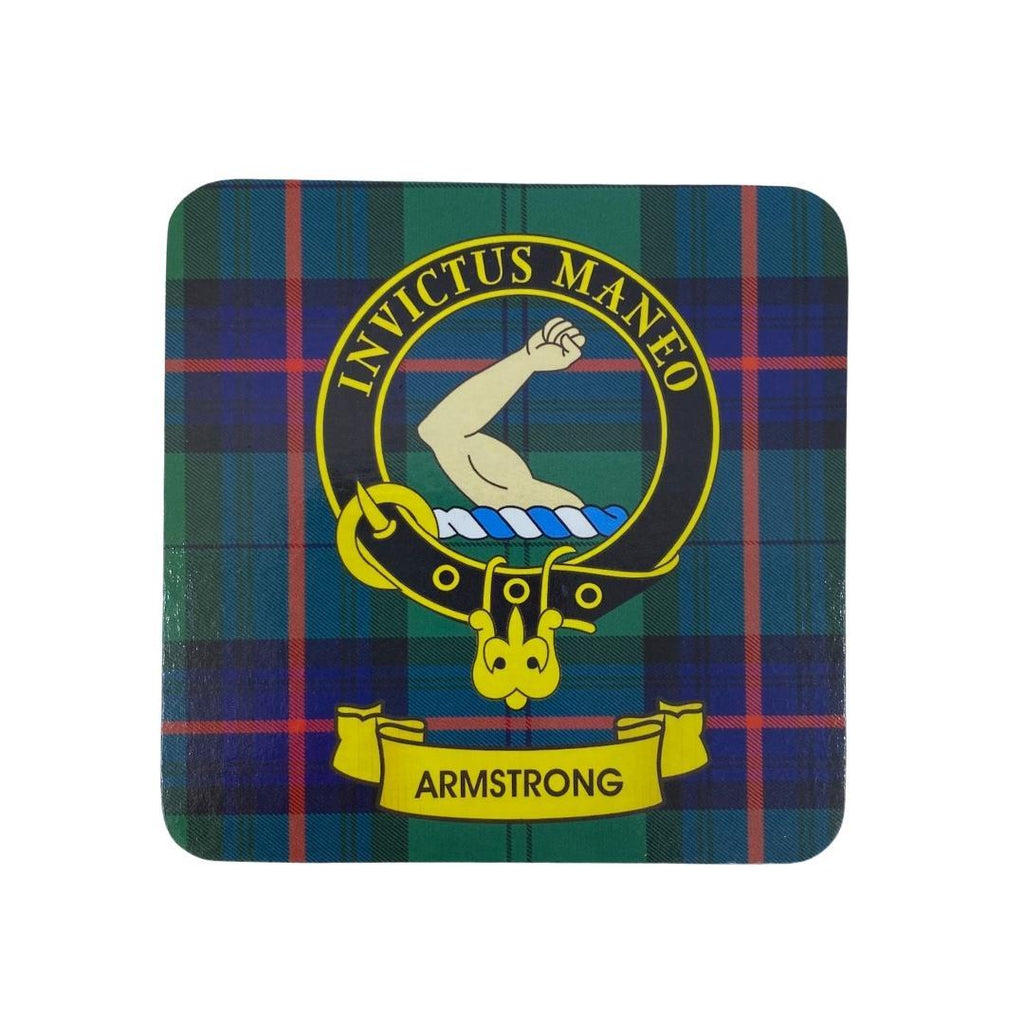 Armstrong Clan Crest Cork Coaster | Scottish Shop