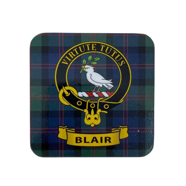 Blair Clan Crest Cork Coaster | Scottish Shop