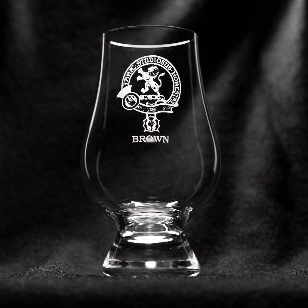 Brown Clan Glencairn Whisky Glass | Scottish Shop