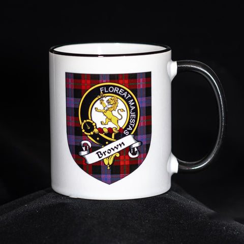 Brown Clan Crest Mug | Scottish Shop