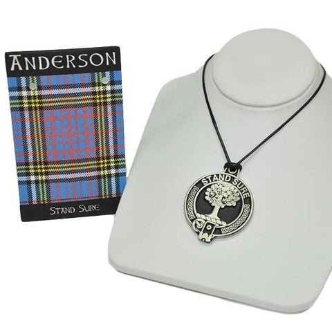 Brown Clan Crest Pendant | Scottish Shop