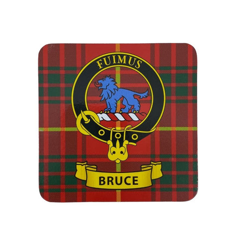 Bruce Clan Crest Cork Coaster | Scottish Shop