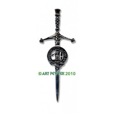 Carmichael Clan Crest Pewter Kilt Pin | Scottish Shop