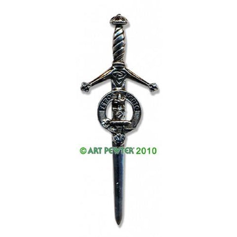 Chisholm Clan Crest Pewter Kilt Pin | Scottish Shop