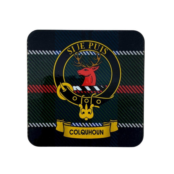 Colquhoun Clan Crest Cork Coaster | Scottish Shop