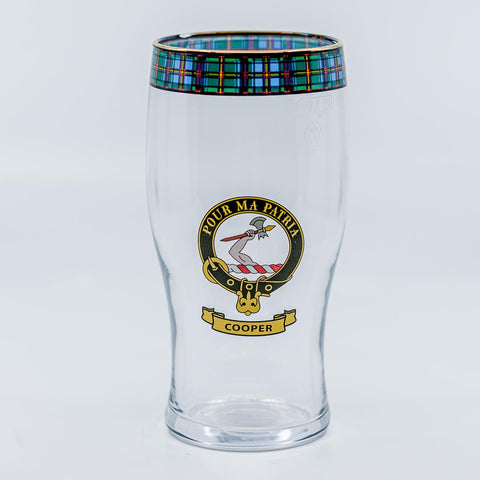Cooper Clan Crest Pint / Beer Glass | Scottish Shop
