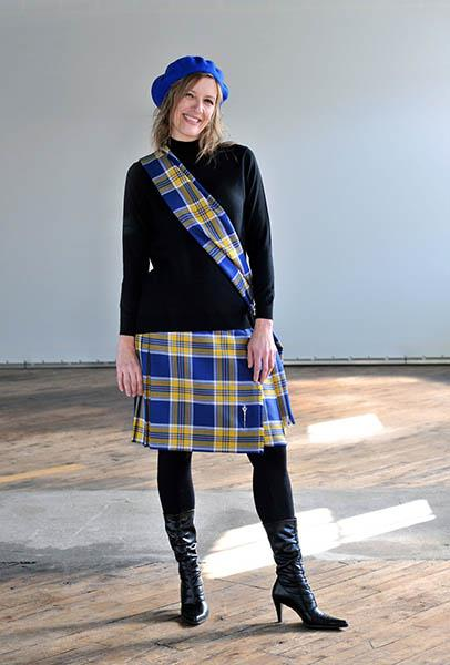 Thomson Blue Modern Ladies Semi-Kilt | Scottish Shop