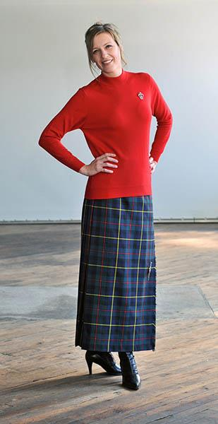 Sinclair Red Modern Hostess Kilt | Scottish Shop