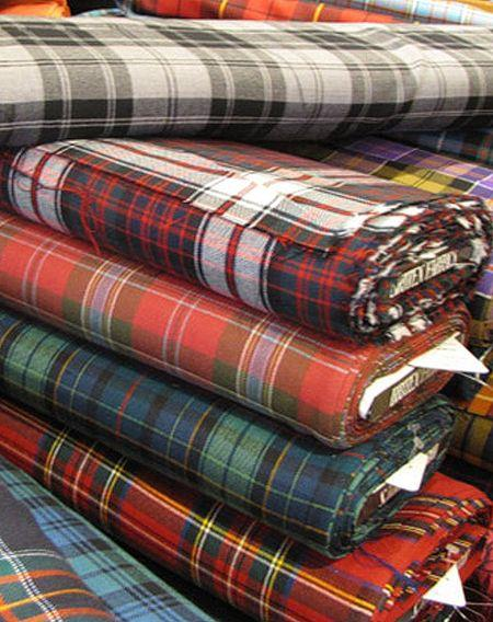 MacPherson Red Modern Tartan 11oz Cloth | Scottish Shop