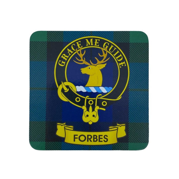 Forbes Clan Crest Cork Coaster | Scottish Shop