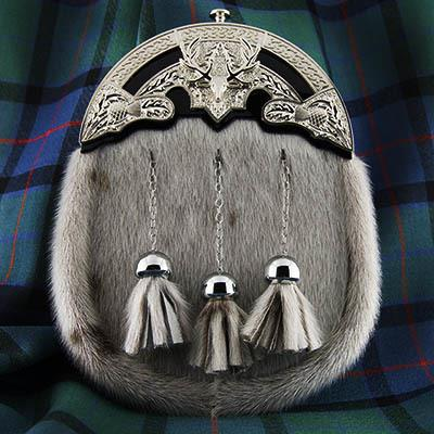 Stag Seal Skin Formal Sporran | Scottish Shop