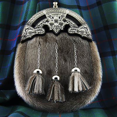 Thistle Seal Skin Formal Sporran | Scottish Shop