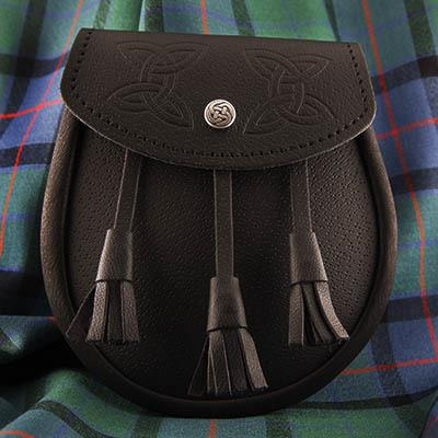 Celtic Embossed Leather Day Sporran | Scottish Shop