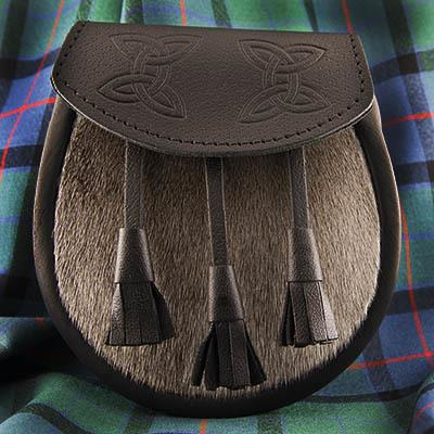 Embossed Seal Skin Semi-Formal Sporran | Scottish Shop