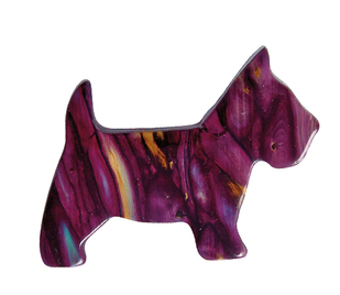 Heathergem Scottie Dog Brooch | Scottish Shop