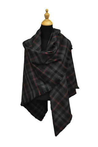 Witches' Blood Tartan Shawl | Scottish Shop