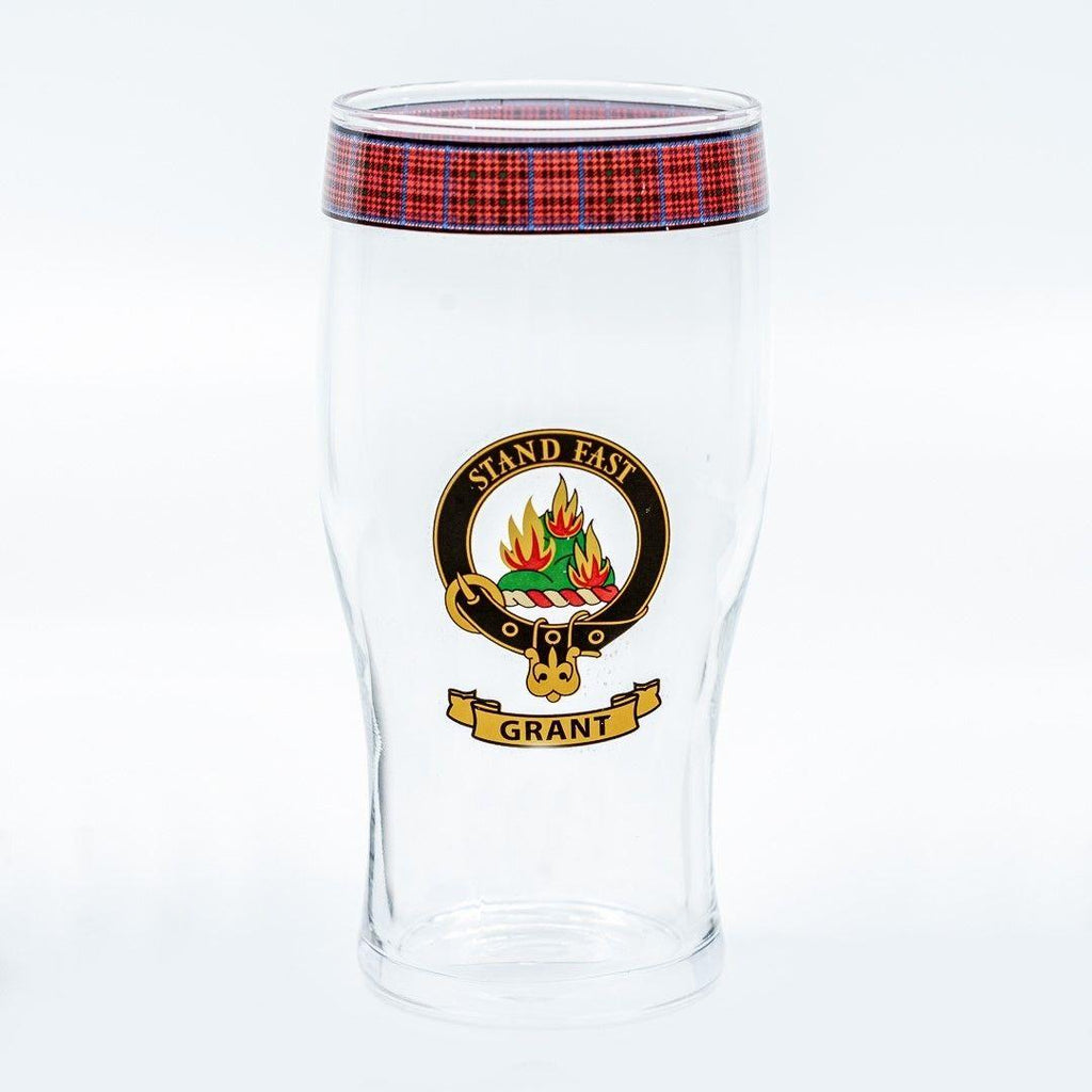 Grant Clan Crest Pint / Beer Glass | Scottish Shop