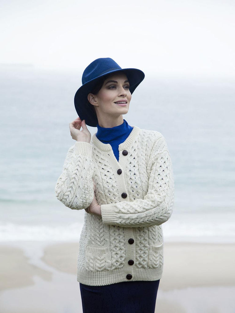 Ladies Merino Wool Cardigan | Scottish Shop