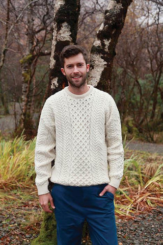 Fisherman Knit Aran Sweater | Scottish Shop