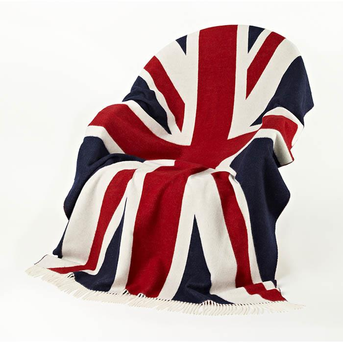 100% Merino Wool Union Jack Blanket | Scottish Shop