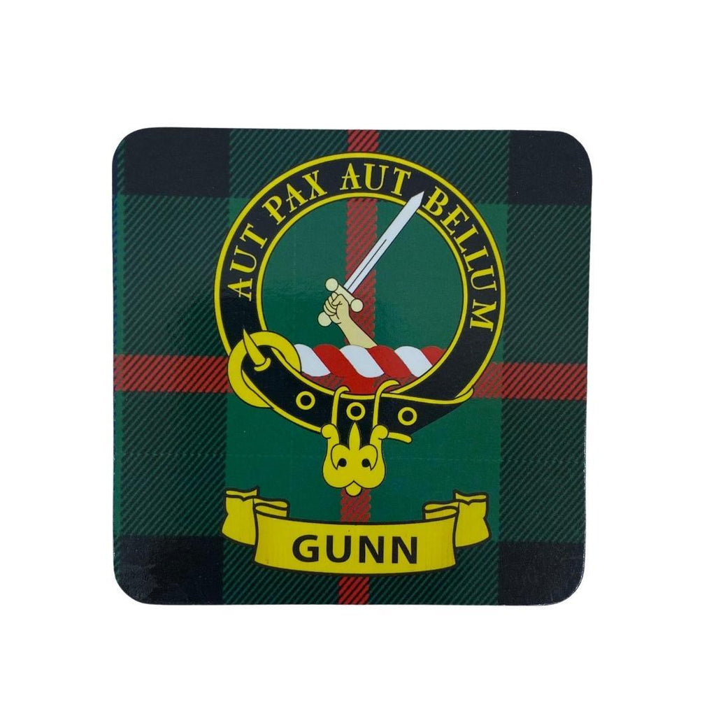 Gunn Clan Crest Cork Coaster | Scottish Shop