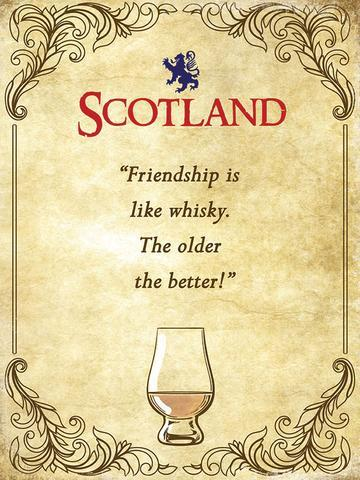 Whisky Friendship Metal Sign | Scottish Shop