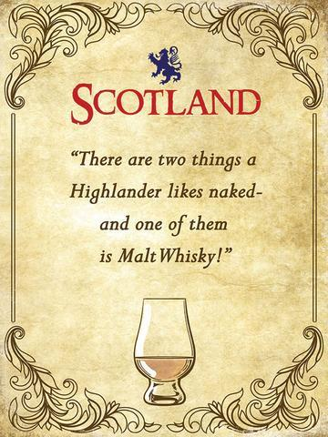 Whisky Highlander Metal Sign | Scottish Shop
