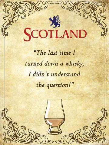 Whisky Question Metal Sign | Scottish Shop