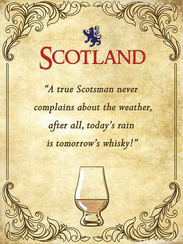 Whisky Weather Metal Sign | Scottish Shop