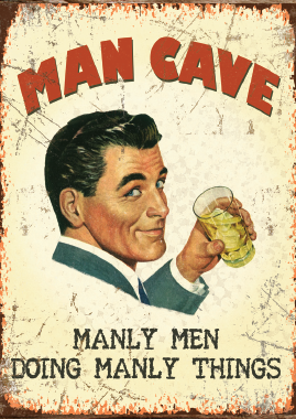 Man Cave Metal Sign | Scottish Shop