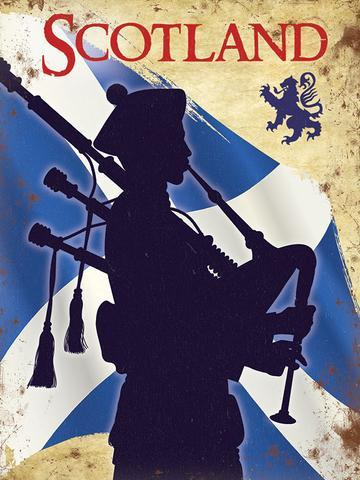 Bagpipes Metal Sign | Scottish Shop