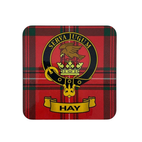 Hay Clan Crest Cork Coaster | Scottish Shop