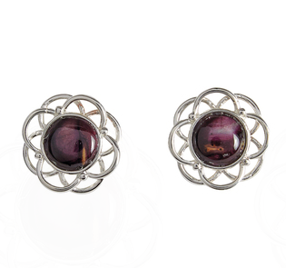 Silver Plated Heathergem Stud Earrings | Scottish Shop