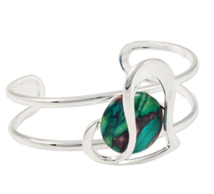 Heathergem Heart Bangle | Scottish Shop