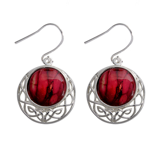 Silver Plated Heathergem Drop Earrings | Scottish Shop