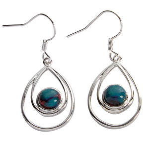 Heathergem Peacock Earrings | Scottish Shop