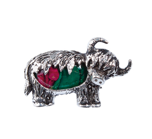 Heathergem Highland Cow Brooch | Scottish Shop