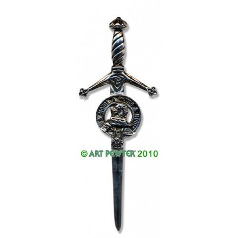Home Clan Crest Pewter Kilt Pin | Scottish Shop