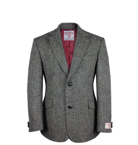 Charcoal Harris Tweed Jacket