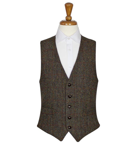 Brown Harris Tweed Vest / Waistcoat | Scottish Shop